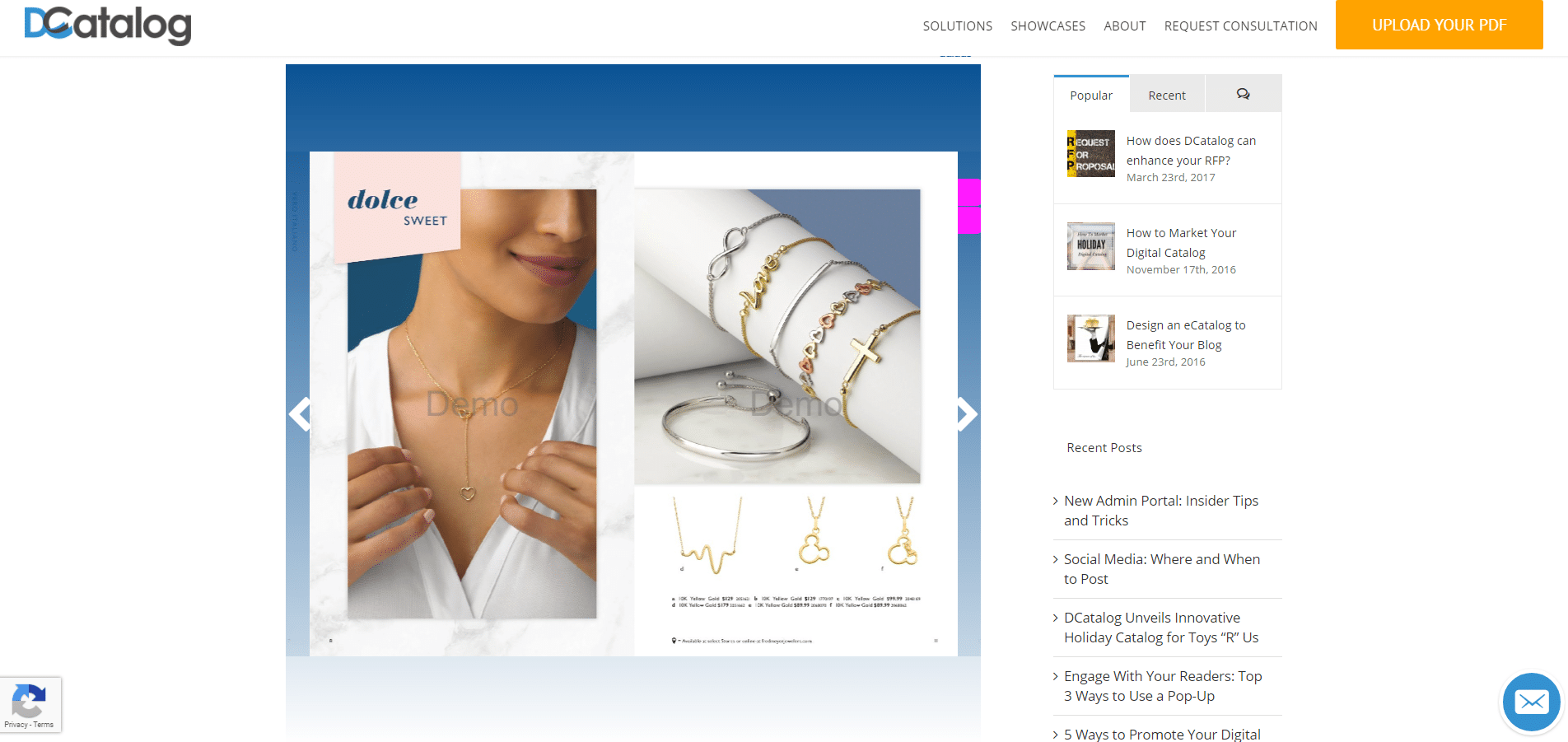 Preview of Embed Catalog on Website