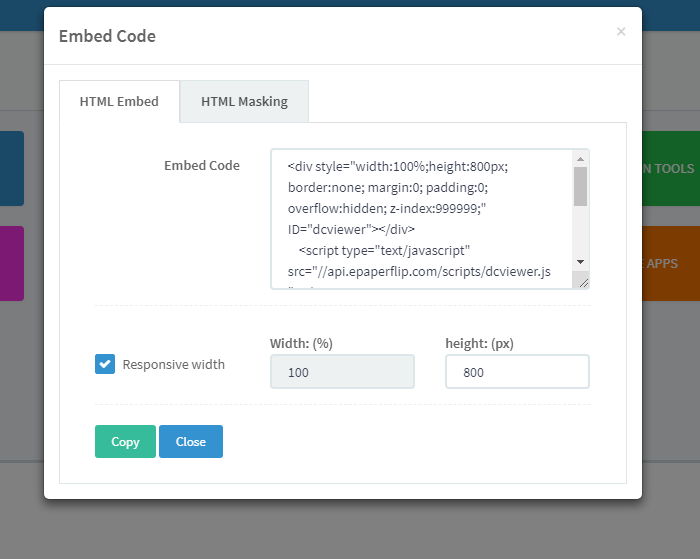 DCatalog's Embed Code for Your Catalog
